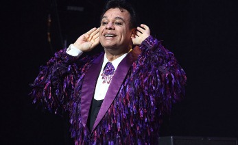 Singer Juan Gabriel performs on stage at Nokia Theatre L.A. Live on September 18, 2014 in Los Angeles, California.