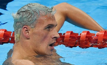 RIO DE JANEIRO, BRAZIL - AUGUST 11: Ryan Lochte of the United States reacts to finishing outside of the medal pack during the men's 200-meter individual medley final at Rio 2016 on Thursday, August 11, 2016. Michael Phelps captured his fourth consecutive title in the event. (Photo by AAron Ontiveroz/The Denver Post)