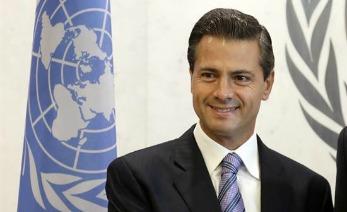 Enrique Peña Nieto Dando un discurso en las naciones unidas