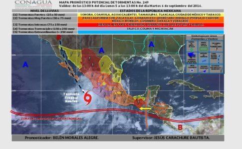 Alerta roja en Sonora por 'Newton'