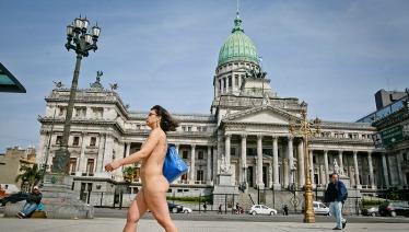 Protestas al desnudo