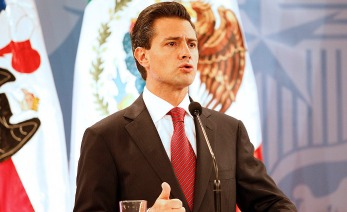 SANTIAGO, CHILE - SEPTEMBER 21:  Enrique Peña Nieto, President-elect of Mexico gives a speech at Palacio de La Moneda on September 21, 2012 in Santiago, Chile. (Photo by Ignacio Iribarren/LatinContent/Getty Images)