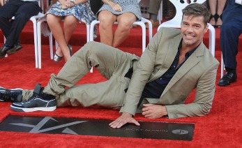 SAN JUAN, PUERTO RICO - FEBRUARY 03:  Ricky Martin receives a Star on the Puerto Rico Walk of Fame, Paseo de la Fama, on February 3, 2016 in San Juan, Puerto Rico.  (Photo by GV Cruz/WireImage)