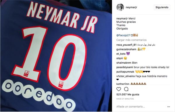 ¿Cuánto cuesta la camiseta de Neymar del PSG?