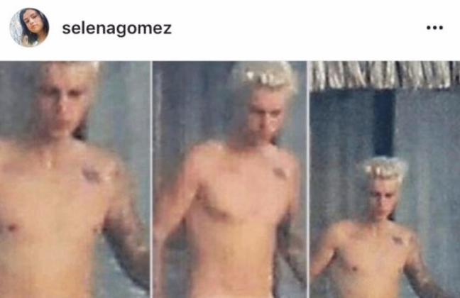 Aparece foto de Justin Bieber desnudo en Instagram de Selena Gómez