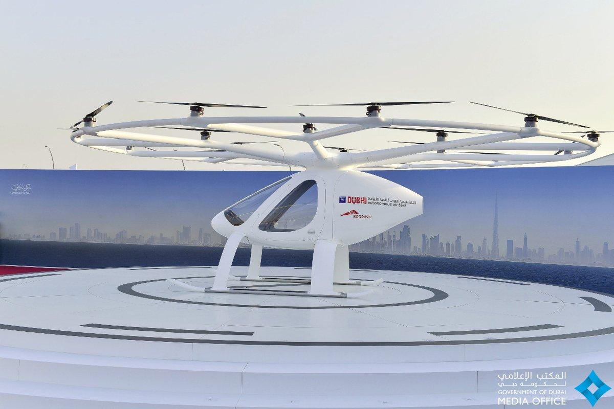 Dubái realiza pruebas del primer taxi dron DK-t9G5XoAAiLLg