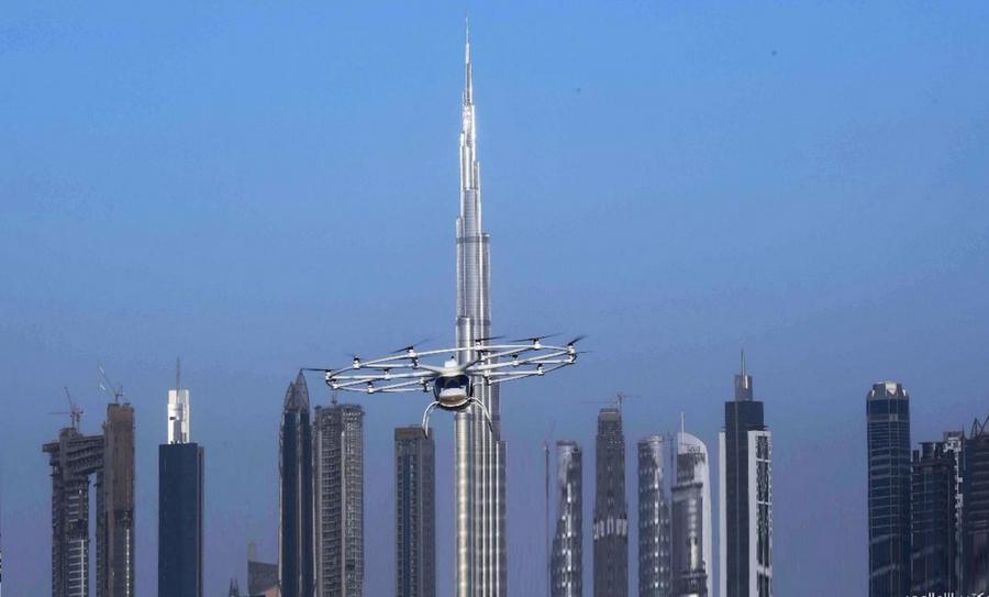 taxi dron, primer taxi dron, Dubái