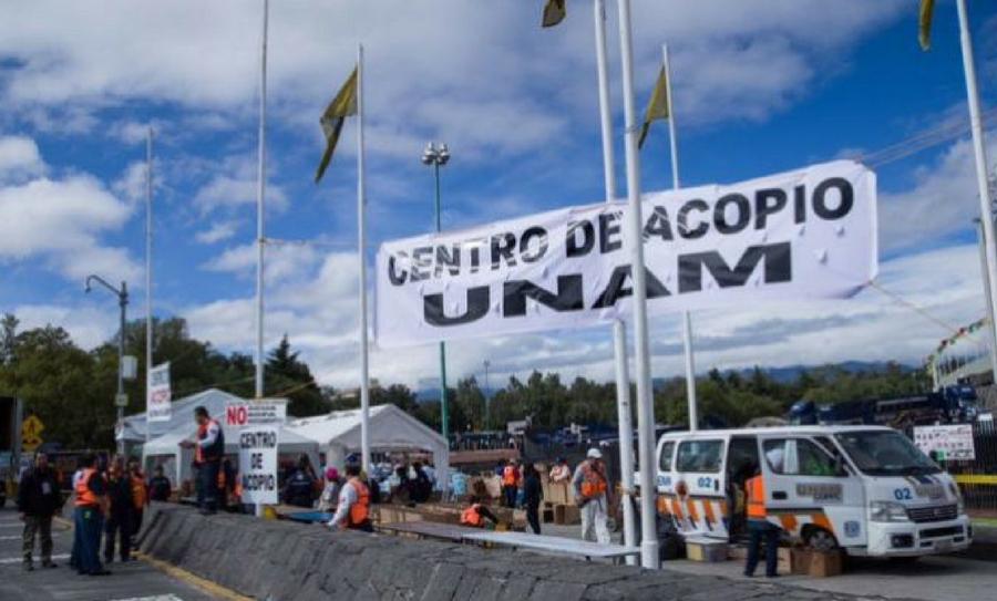 La UNAM cierra su centro de acopio, UNAM, Centro de Acopio, Víveres
