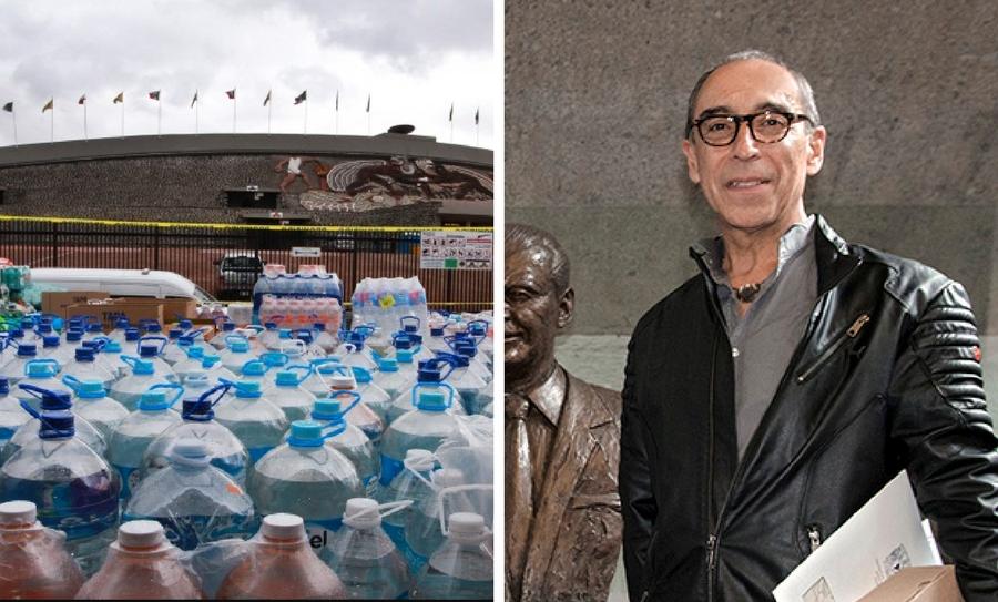 Centro de Acopio de la UNAM, UNAM, Eduardo Cacho, Director de Prevención y Protección Civil de la UNAM