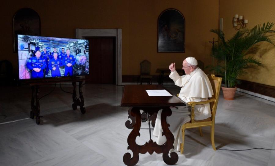 El Papa Francisco platicó con la tripulación de Estación Espacial, Papa Francisco, Papa espacio, Tripulación Espacial, Espacio, Estación Espacial Internacional, Vaticano