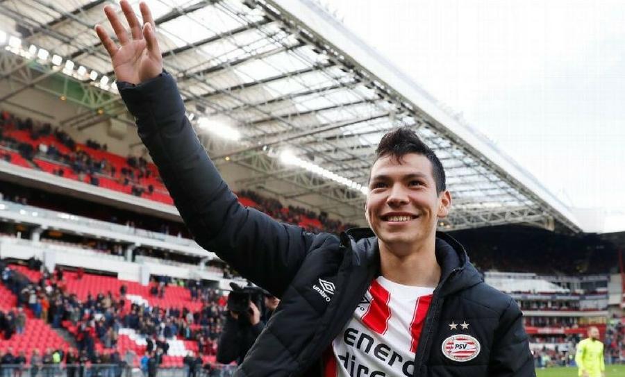"""Afición del PSV canta """"Cielito Lindo"""" a Hirving Lozano, Hirving Lozano, Hirving """"Chucky"""" Lozano, PSV, Liga Eredivisie, Holanda"""