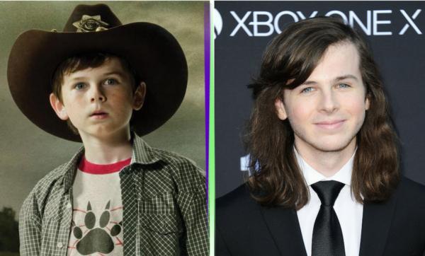 """El antes y después de los niños actores de """"The Walking Dead"""" chandler-600x362"""