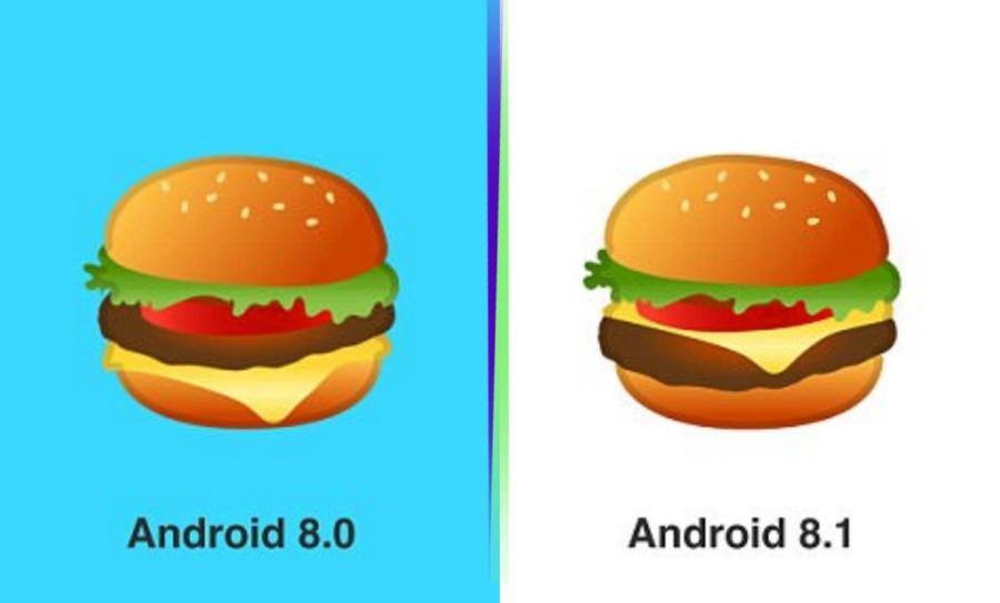 Google arregló el emoji de hamburguesa, Google, Emoji hamburguesa, Hamburguesa emoji, Google hamburguesa