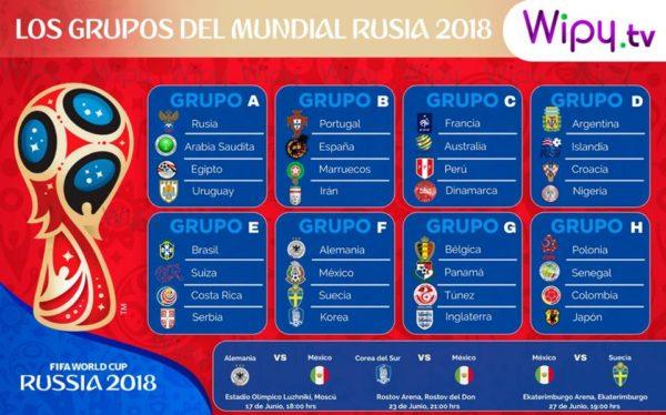 partidos del Mundial se jugarán el día de las elecciones, Sorteo de grupos del Mundial Rusia 2018, Mundial de Rusia 2018, Rusia 2018, fase de grupos Rusia 2018