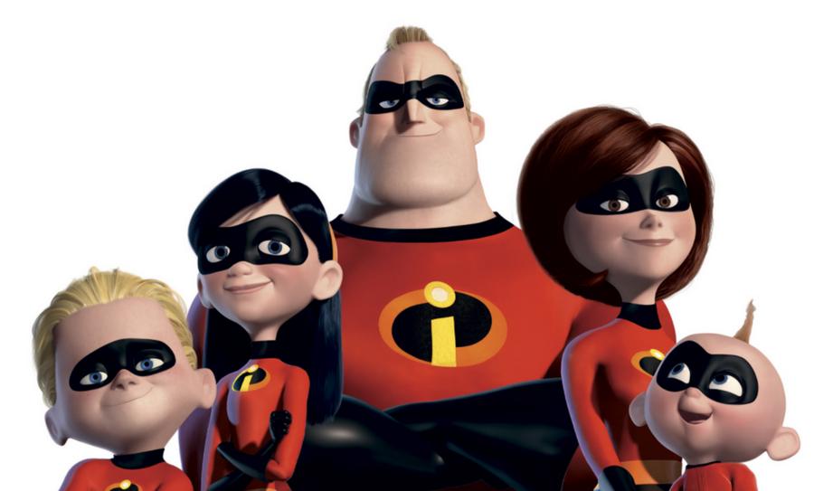 imagen oficial de ''Los Increíbles 2''