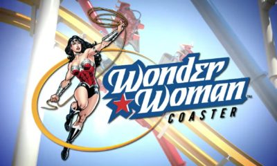 "Primera pieza de la ""Wonder Woman Coaster"""