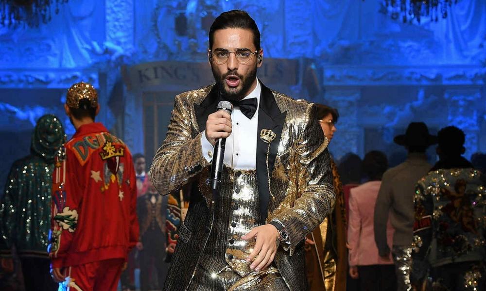 3e2663de6c Con todo! Maluma en pasarela de Dolce & Gabbana, desfiló y cantó