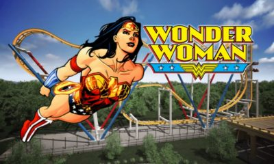 construcción de la Wonder Woman Coaster