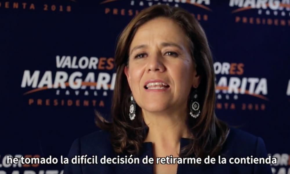 Zavala renuncia oficialmente a su candidatura, Zavala renuncia, candidata independiente, Elecciones2018