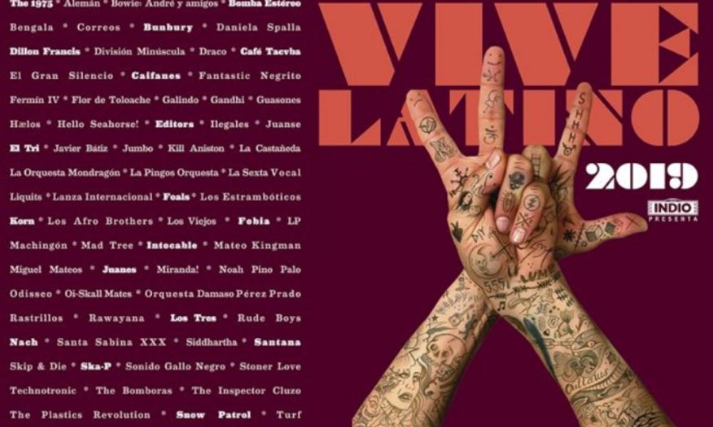 Cartel del Vive Latino 2019