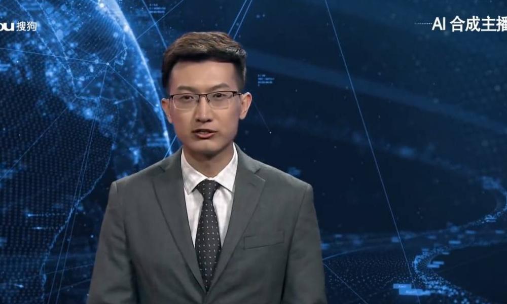 primer presentador de noticias con inteligencia artificial