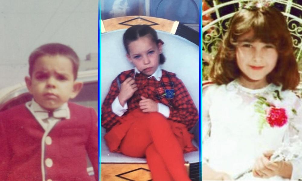 Famosos publicaron fotos de cuando eran niños