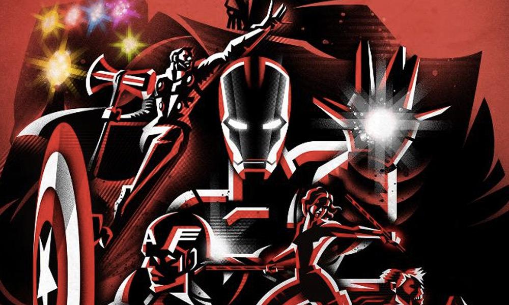 nuevo póster de 'Avengers: Endgame' con influencia japonesa