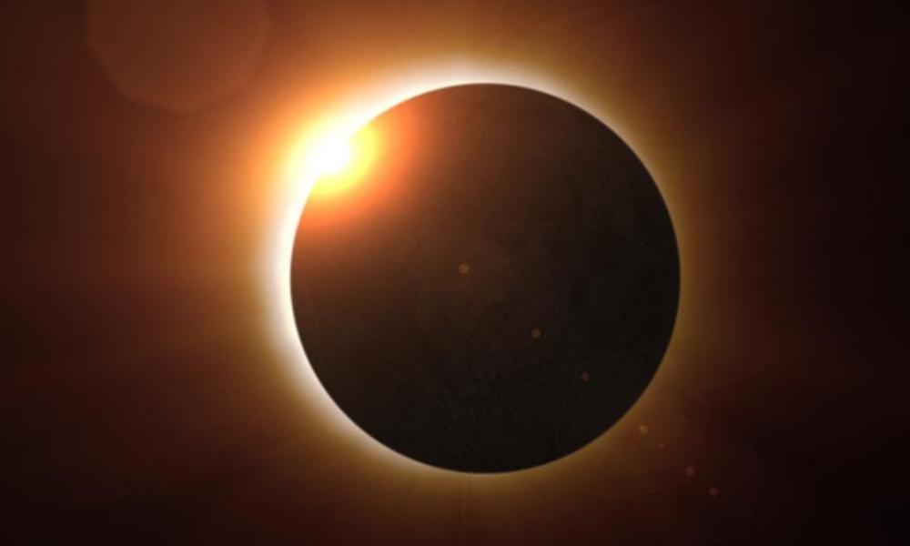 eclipse solar visto desde la superficie de Marte
