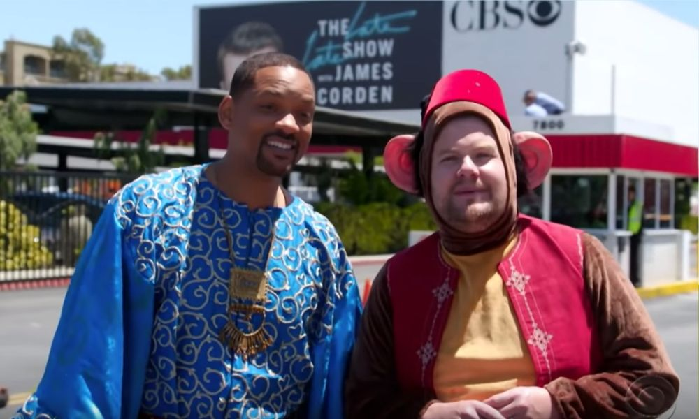 James Corden y el elenco de 'Aladdin'