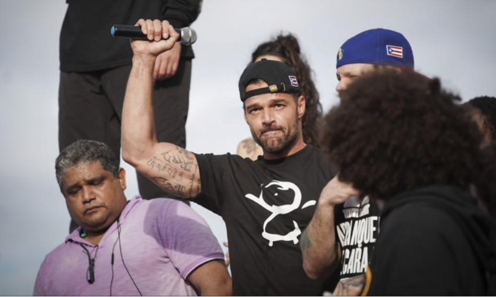 Famosos encabezaron protestas en Puerto Rico