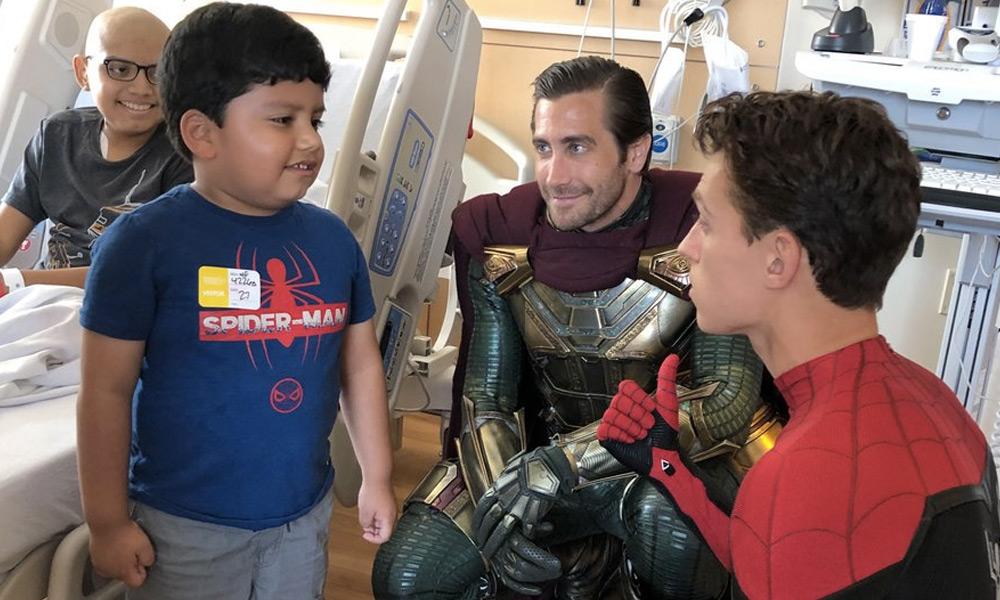'Spider-Man' y 'Mysterio' visitaron un hospital