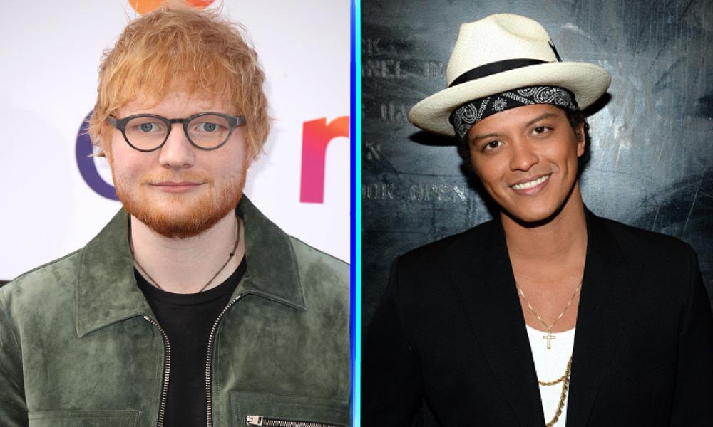 Ed Sheeran y Bruno Mars en su nueva canción