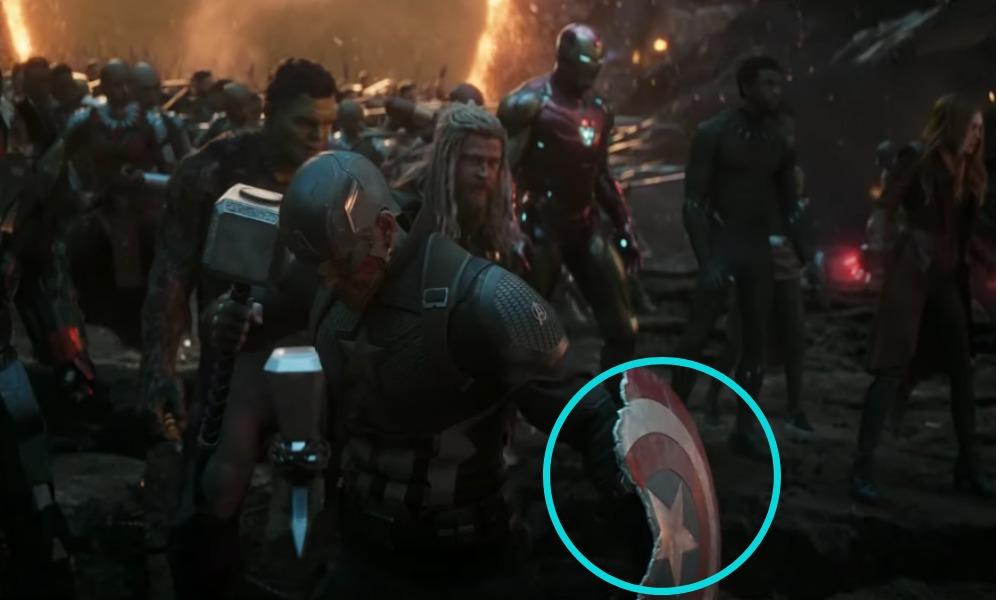 Thanos rompió al escudo del Capitán América