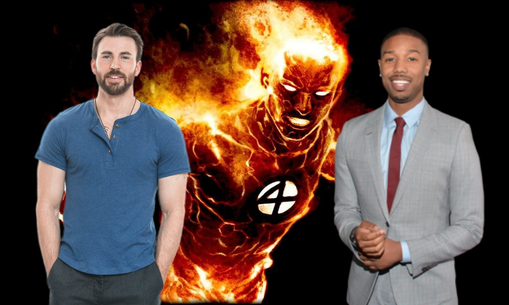 Chris Evans y Michael B. Jordan como 'Human Torch'