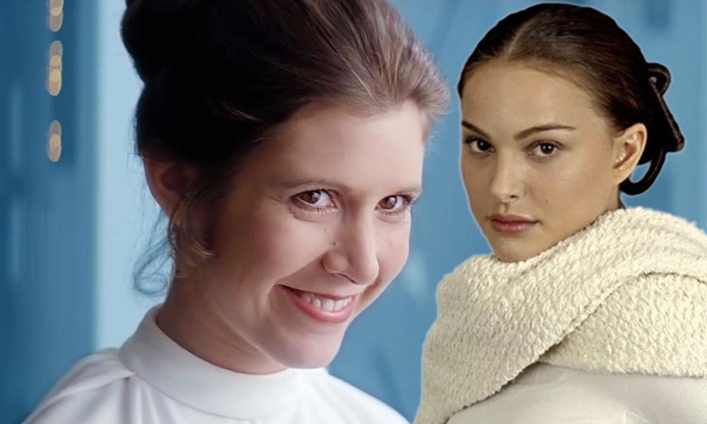 Error entre Leia y Padmé de 'Star Wars'