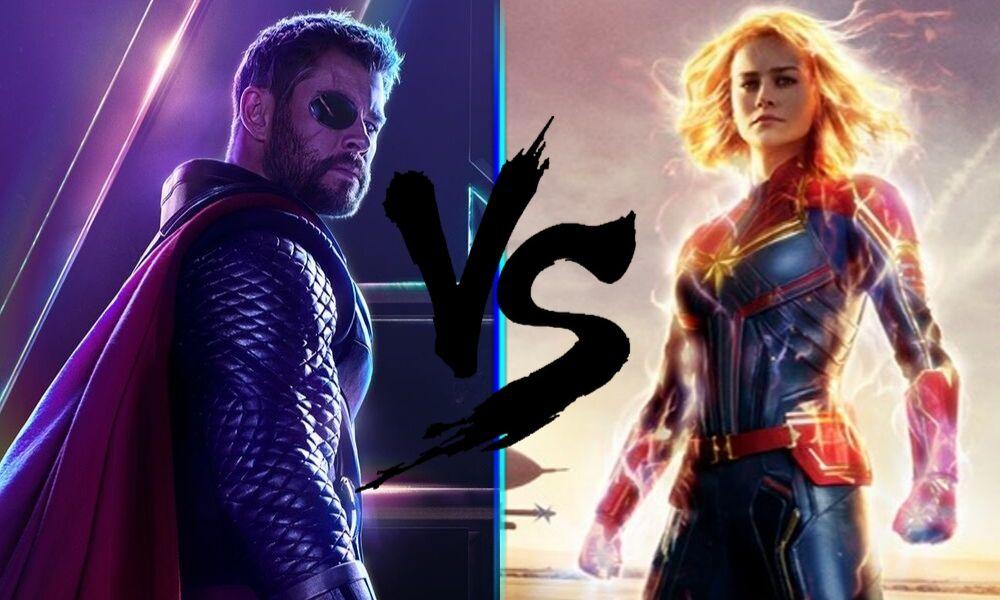 Quién es más poderoso Thor o Captain Marvel