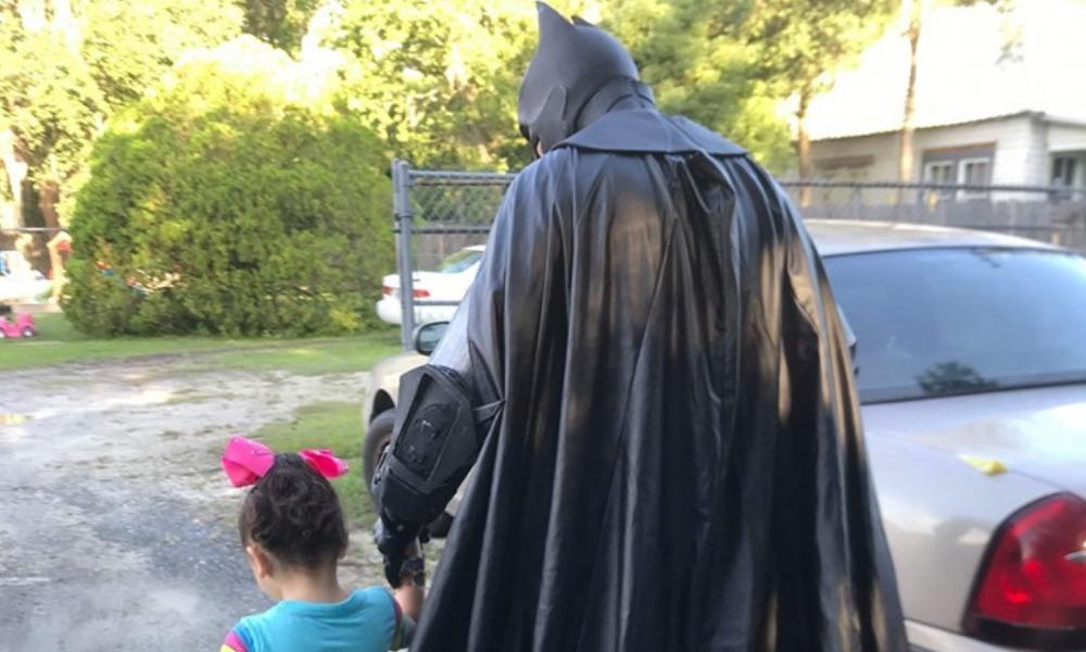 Batman ayudó a una niña