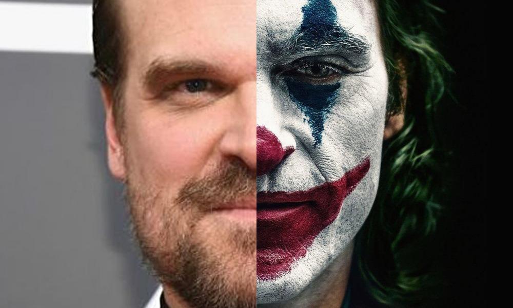 David Harbour en parodia de 'Joker'