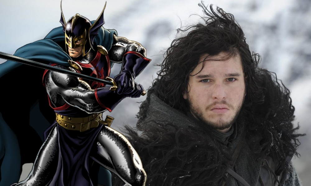 Jon Snow con Black Knight de 'Eternals'