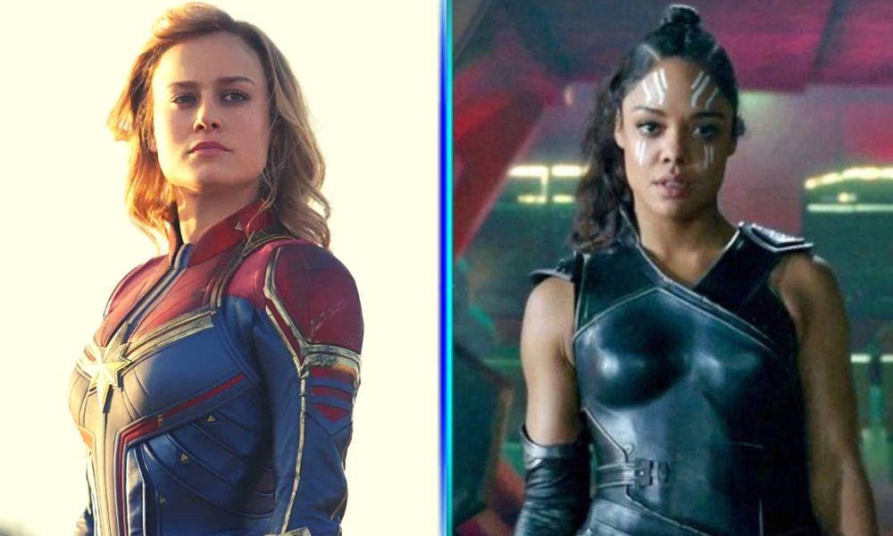 romance entre Valkyrie y Captain Marvel