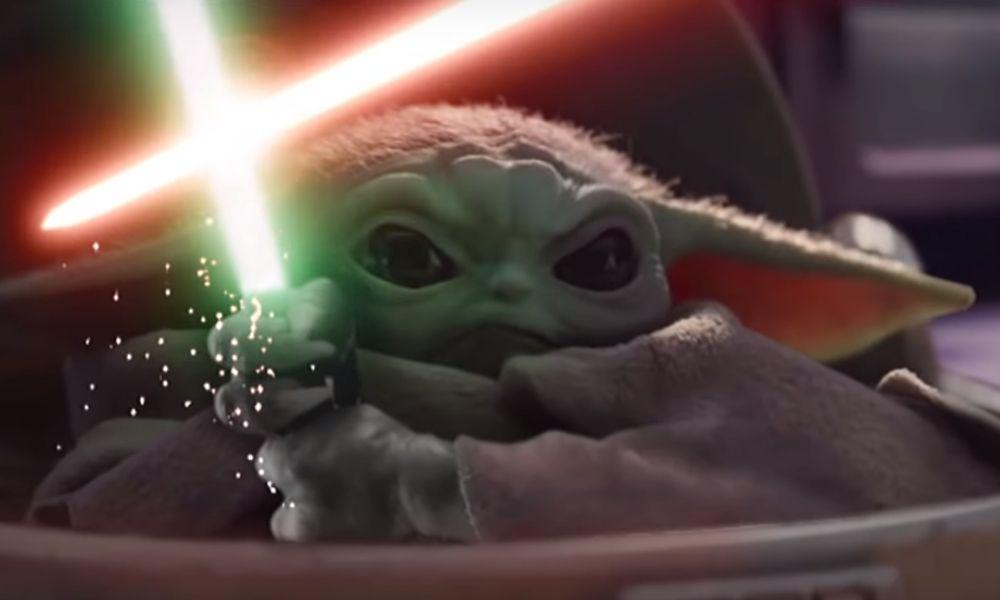 Baby Yoda pelea contra Palpatine