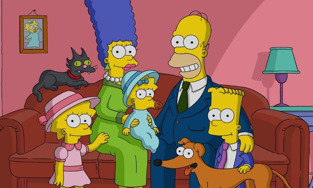 obra de arte de 'The Simpsons' de KAWS