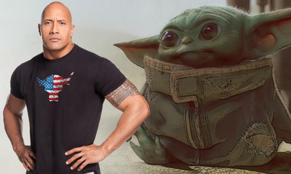foto de 'The Rock' con baby Yoda