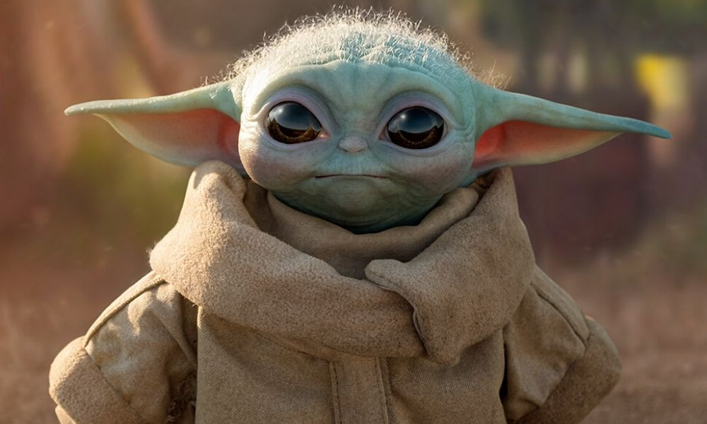 Baby Yoda en tamaño real