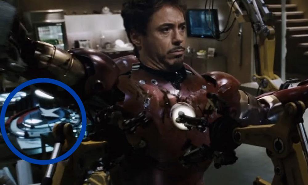 Por qué el escudo de Captain America aparece en 'Iron Man'