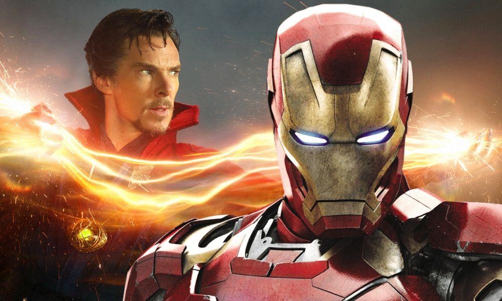 Doctor Strange con la armadura de Iron Man