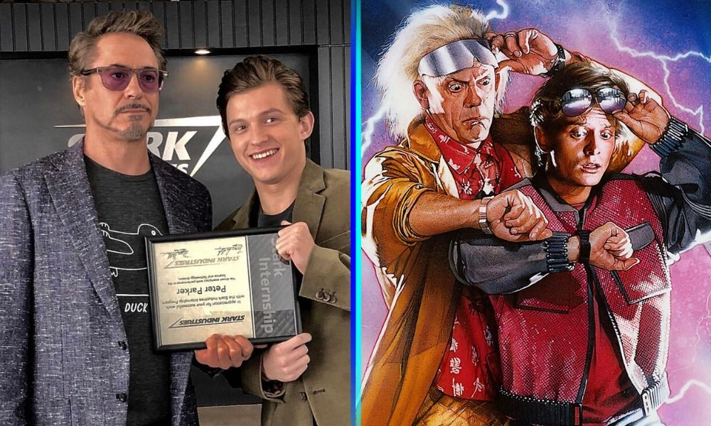 Tom Holland y Robert Downey Jr. protagonizan 'Back to the Future'