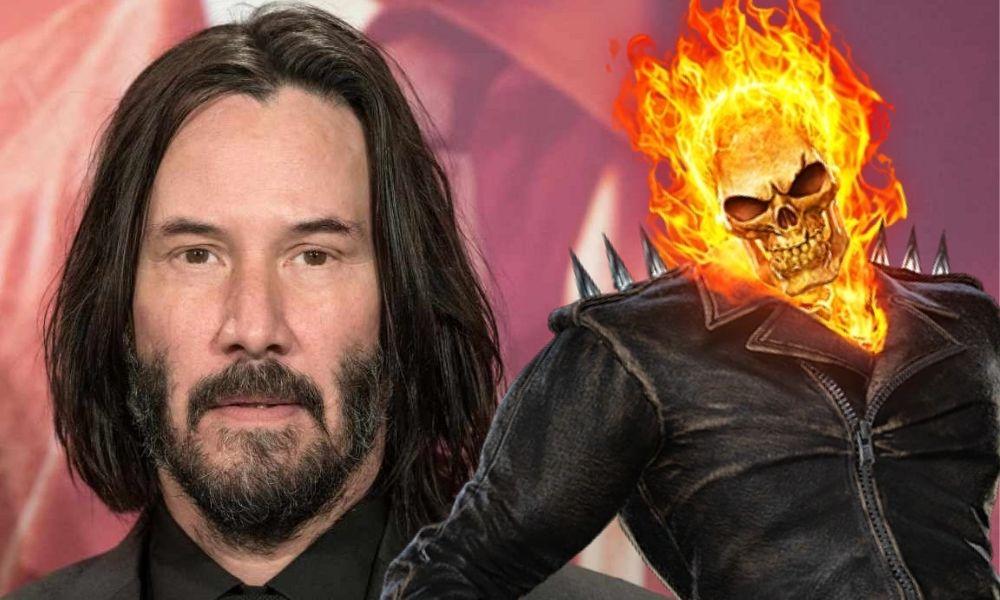 fan art de Keanu Reeves como Ghost Rider