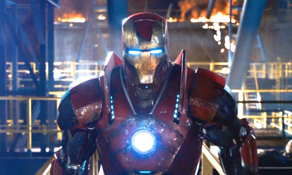arte conceptual del stealth suit de Iron Man
