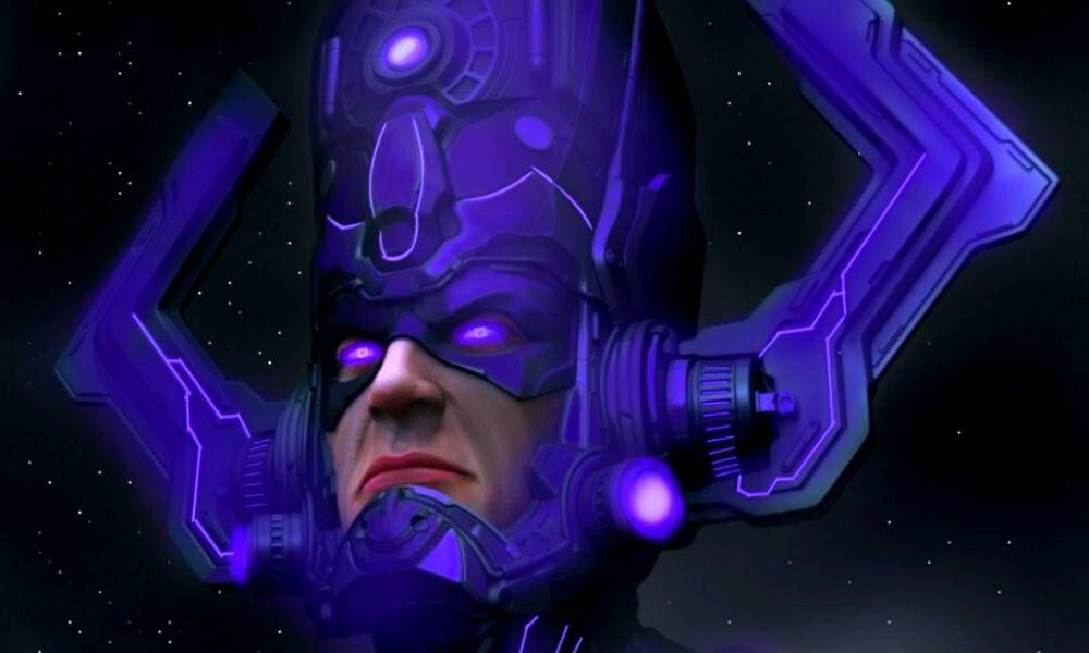fan póster de la fase 4 del MCU con Galactus